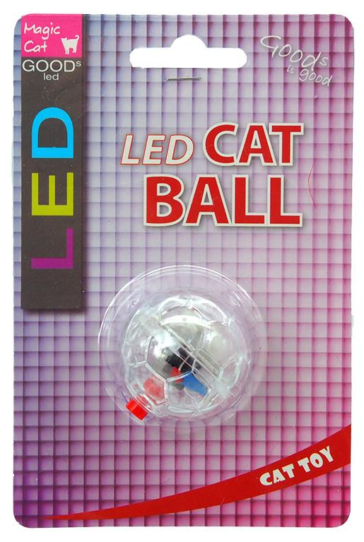 Игрушка для кошек - Magic Cat Toy LED flash ball, 3.75 см
