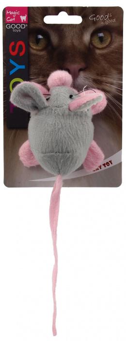 Rotaļlieta kaķiem - Magic Cat Toy crinkle mouse with catnip, mix colour