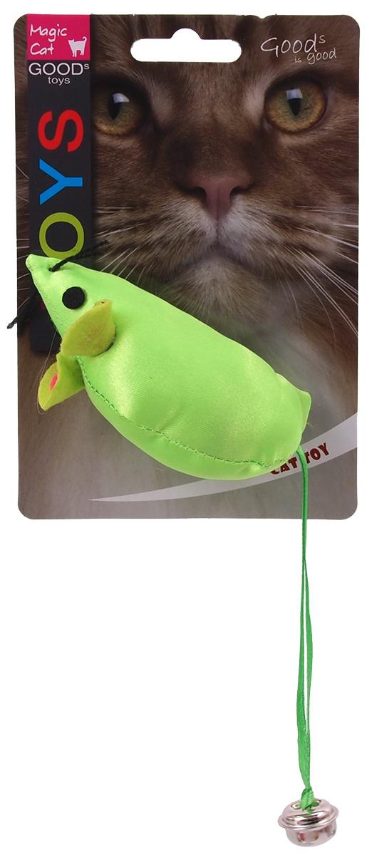 Rotaļlieta kaķiem - Magic Cat Toy neon mouse, 8.75cm