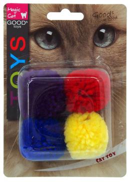 Игрушка для кошек – Magic Cat Toy cotton ball with catnip, 4 шт., 3,75 см