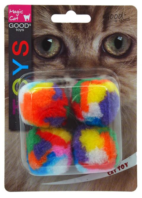 Игрушка для кошек - Magic Cat Toy ball, 4шт, 3.75см