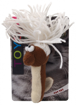 Rotaļlieta kaķiem - Magic Cat Toy cotton worm, plush, mix, 13.75cm