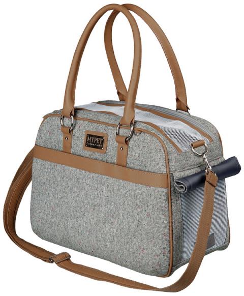 Transportēšanas soma dzīvniekiem - Trixie Helen Carrier, 19*28*40 cm, krāsa - pelēka