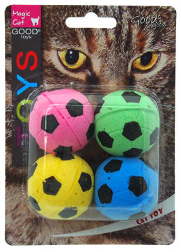 Игрушка для кошек – Magic Cat Toy foam football 4 шт., 3,75 см