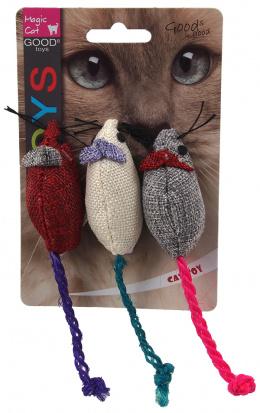 Игрушка для кошек - Magic Cat Toy colourful mouse with catnip 3шт, 7.5см