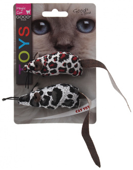 Rotaļlieta kaķiem - Magic Cat Toy plush mouse with catnip, 2gb, mix, 17.5cm