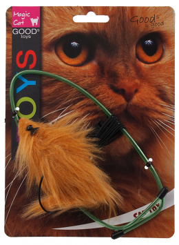 Игрушка для кошек - Magic Cat Toy plush mouse for hanging on door, mix