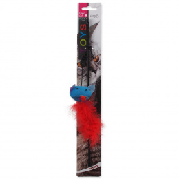 Rotaļlieta kaķiem - Magic Cat Toy stick with catnip, 30 cm