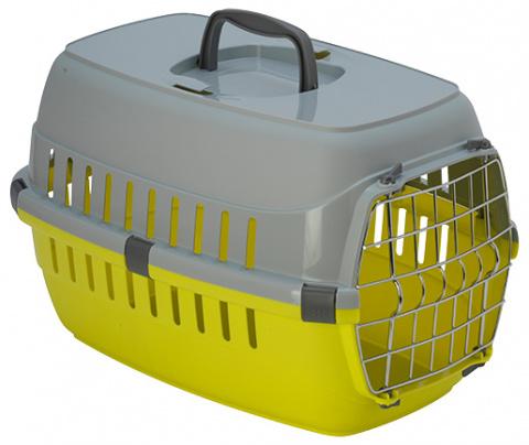 Transportēšanas bokss dzīvniekiem – Dog Fantasy Carrier, Yellow, 48 x 32,5 x 29 cm title=