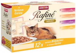 Konservi kaķiem - Animonda Rafine Soupe Adult Multipack in Jelly, 12 x 100 g