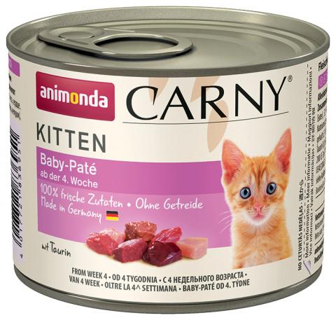 Konservi kaķiem - Carny Kitten Baby Pate, 200 g