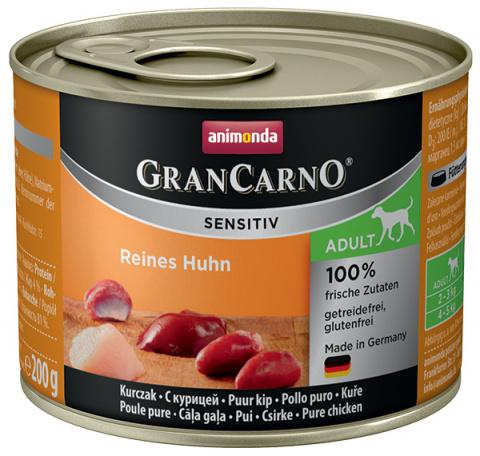 Konservi suņiem - Animonda GranCarno Sensitiv, Pure Chicken, 200 g