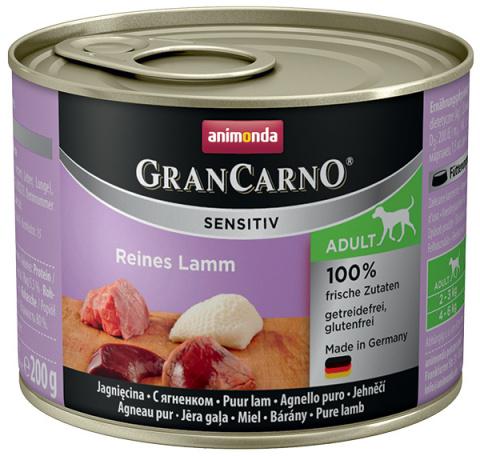 Konservi suņiem - Animonda GranCarno Sensitiv, Pure Lamb, 200 g