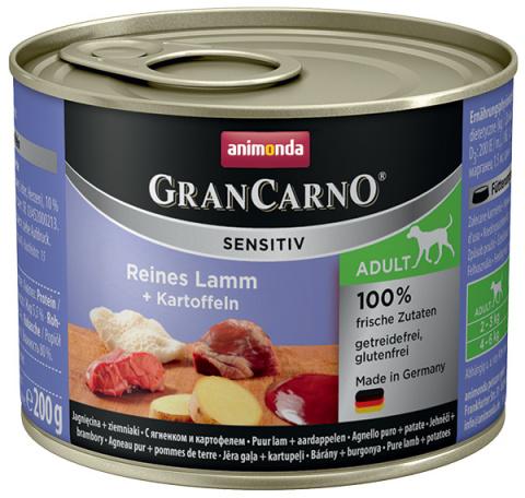 Консервы для собак - Animonda GranCarno Sensitiv, Lamb & Potatoes, 200 г