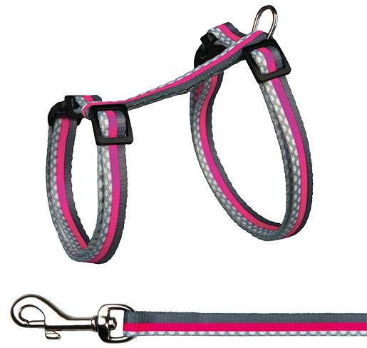 Aksesuārs grauzējiem - Trixie Rabbit harness with lead 27-45/10 mm, 1.20 m