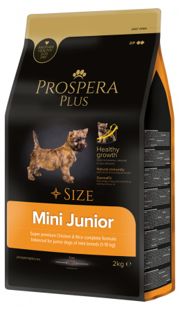 Bar­ība kucēniem - Prospera Plus Mini Junior, 2 kg