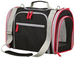Transportēšanas soma dzīvniekiem - Trixie Massimo Carrier, 25*28*39 cm, krasa - melna/pelēka
