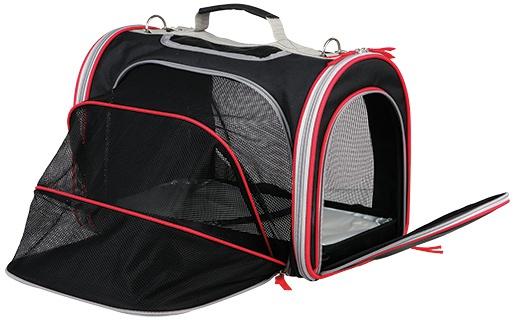 Сумка для транспортировки животных - Trixie Massimo Carrier, 25*28*39 cm, цвет - черный/серый