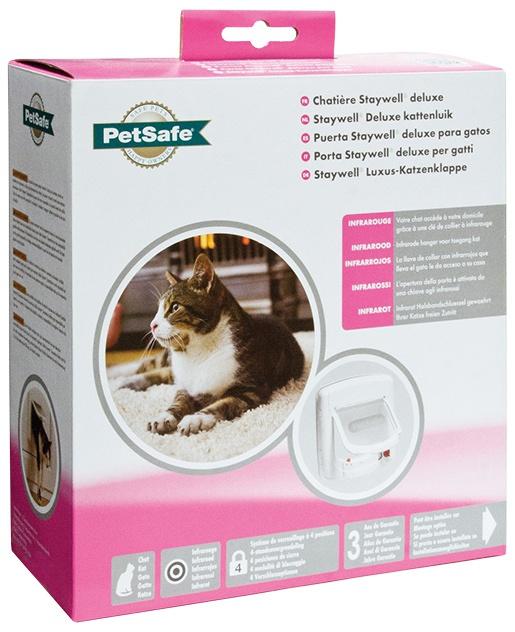 Durvis kaķiem - Staywell Infra-red Cat Flap, krāsa - balta