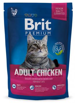 Barība kaķiem - BRIT Premium Cat Adult Chicken, 1.5 kg