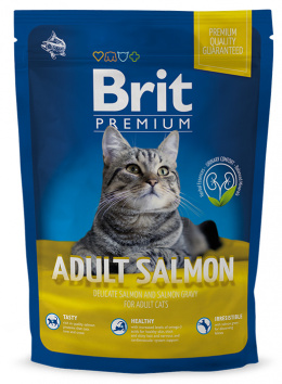 Barība kaķiem - BRIT Premium Cat Adult, Salmon, 1.5 kg