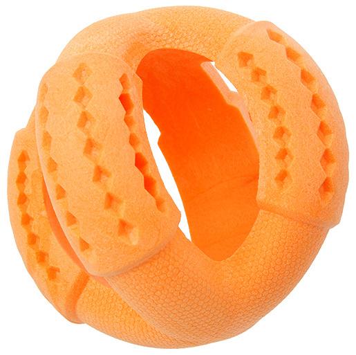 Rotaļlieta suņiem - Dog Fantasy Good's Rubber Strong TPR ball, 11 cm, krāsa - oranža
