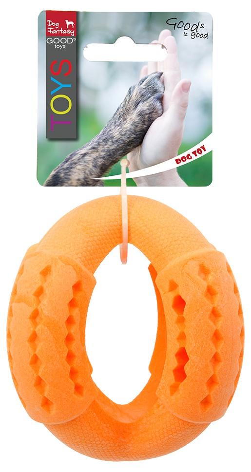 Игрушка для собак - Dog Fantasy Good's Rubber Strong TPR ball, 11 cm, цвет - оранжевый