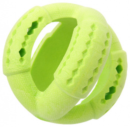 Игрушка для собак - Dog Fantasy Good's Rubber Strong TPR ball, 11 cm, цвет - зеленый