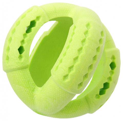 Rotaļlieta suņiem - Dog Fantasy Good's Rubber Strong TPR ball, 11 cm, krāsa - zaļa