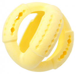 Rotaļlieta suņiem - Dog Fantasy Good's Rubber Strong TPR ball, 11 cm, krāsa - dzeltena