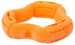 Rotaļlieta suņiem - Dog Fantasy Good's Rubber Strong TPR ring, 12cm, krāsa - oranža