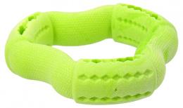 Rotaļlieta suņiem - Dog Fantasy Good's Rubber Strong TPR ring, 12 cm, krāsa - zaļa
