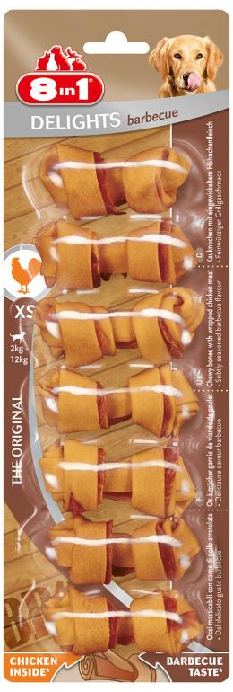 Лакомство для собак -  8in1 Delights Barbecue XS, 7шт.