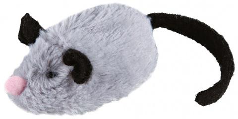 Игрушка для кошек - Trixie Active-Mouse, плюш, 8 cм title=