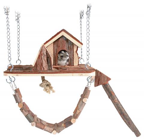Rotaļu laukums grauzējiem - Trixie Natural Living Janne playground / rotaļlaukums, 26 x 22 cm title=
