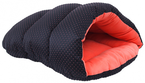 Guļvieta suņiem - Dog Fantasy Sleeping bag, 55*46*10cm, black/orange