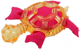 Rotaļlieta suņiem - Dog Fantasy Good's Rubber TPR Turtle, orange, 16 cm