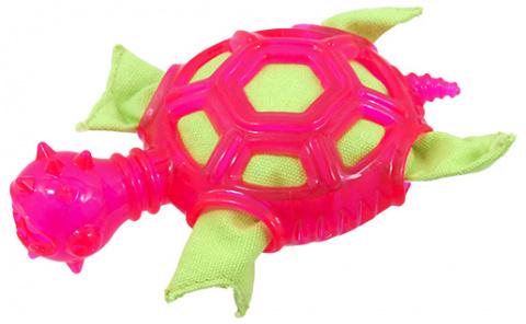 Игрушка для собак -  Dog Fantasy Good's Rubber TPR Turtle, pink, 16 см