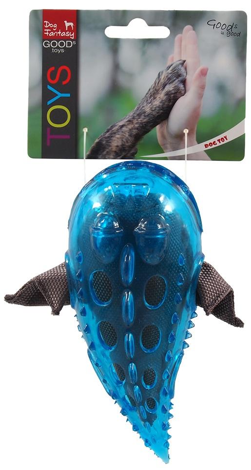 Rotaļlieta suņiem -  Dog Fantasy Good's Rubber TPR Fish, blue, 16 cm