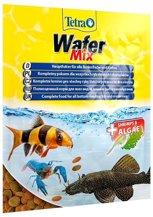 Barība zivīm - Tetra Wafer Mix 15gr