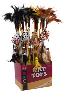 Rotaļlieta kaķiem - Magic Cat, pelīte uz kociņa ar kaķumētru, 20+46cm