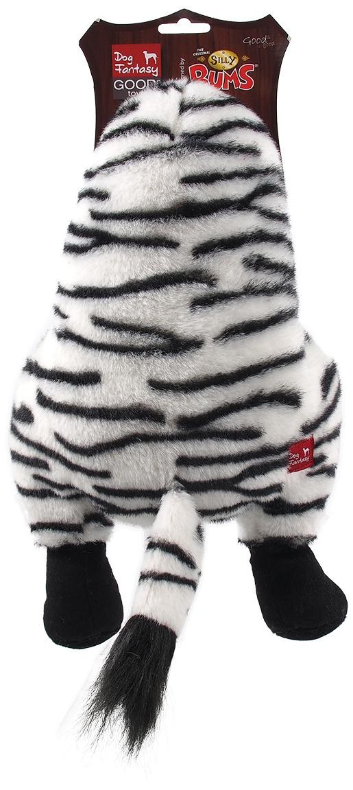 Rotaļlieta suņiem - Dog Fantasy Silly Bums Zebra, 41 cm