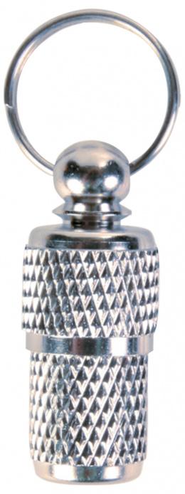 Медальон для собак - адресник хром