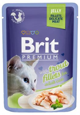 Konservi kaķiem - Brit premium Cat Delicate Fillets, ar foreles fileju, 85 gr