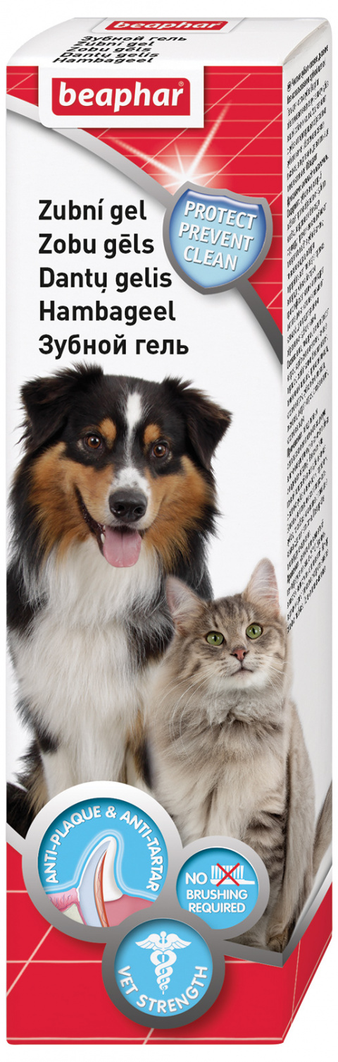 Zobu gēls dzīvniekiem - Beaphar Dog A Dent Gel, 100 g title=
