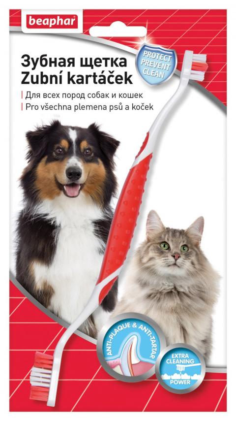 Zobu birste dzīvniekiem - Beaphar toothbrush, 1 gab. title=