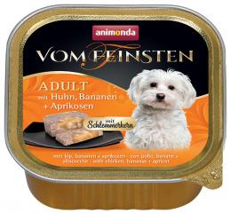 Консервы для собак - Vom Feinsten Gourmet с курицей, бананом и абрикосами, 150 г