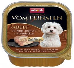 Консервы для собак - VomFeinsten Gourmet Beef, Yogurt, Oat flakes, 150 г