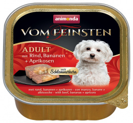 Konservi suņiem - Vom Feinsten Gourmet liellops, banāns, aprikozes, 150 g