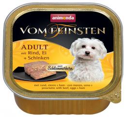 Консервы для собак - VomFeinsten Gourmet Beef, Eggs, Ham, 150 г